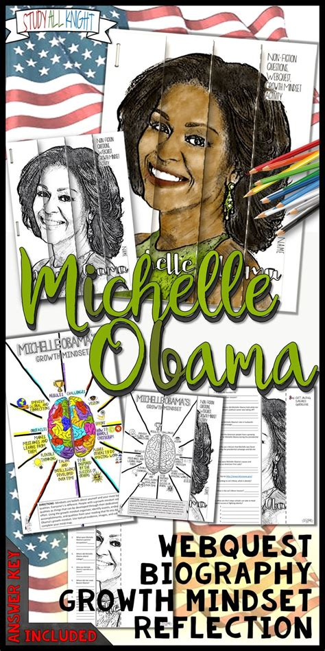 barack obama biography black history michelle obama black history month writing activity