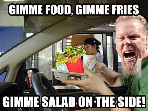 Metallica Meme - metallica goes to mcdonald s realfunny