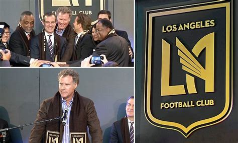 will ferrell lafc lafc launch black and dark gold colours and winged crest