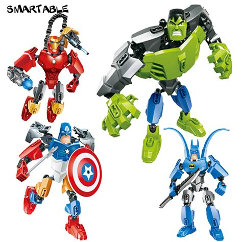 Figure Batman Set 4 smartable 4 pcs set iron captain america batman figures 505 building block