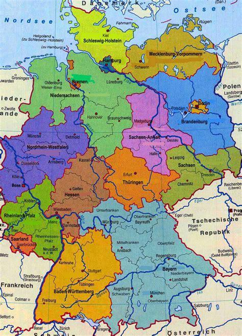 karta deutschland deutschlandkarte karte der bundesrepublik