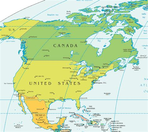 map of usa canada and mexico map of united states and canada and mexico