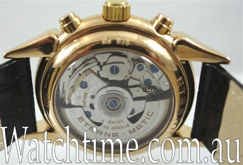 Rolex Moon Matic eterna matic 1948 moonphase chronograph 18k by watchtime