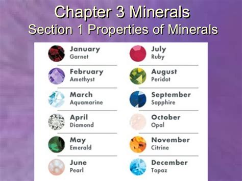 properties of color properties of minerals