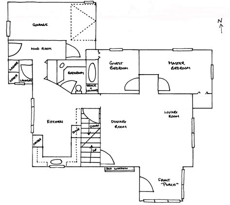 draw simple floor plans simple plans drawing modern house