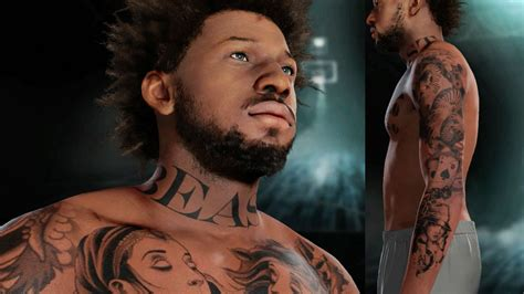 nba tattoos nba 2k16 my career gameplay ep 6 customized tattoos on