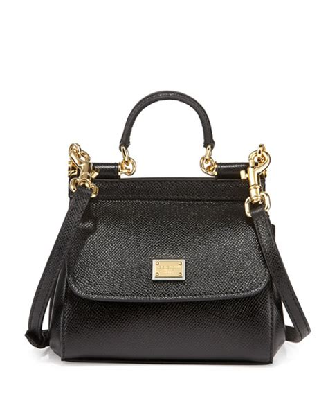 Dg Dolce And Gabbana Suzanne Satchel by Dolce Gabbana Miss Sicily Mini Crossbody Bag Black