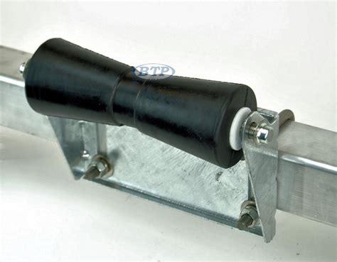 bolt on boat trailer rollers 12 inch black rubber keel roller assembly kit with roller