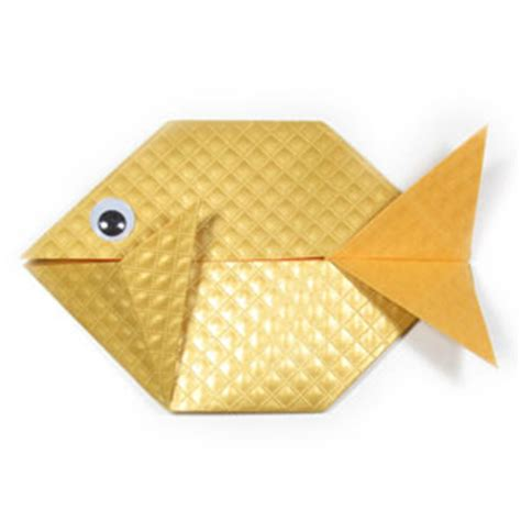 Simple Fish Origami - how to make an easy origami fish page 1