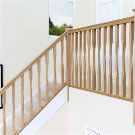 Stair Rails And Banisters Oak Contemporary Square Twist Spindle 41mm