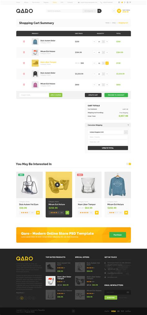 themeforest qaro qaro clean modern psd template by themefire themeforest