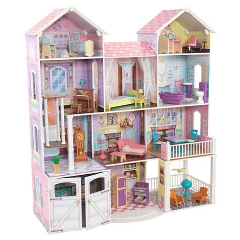 kid kraft doll house kidkraft country estate dollhouse target