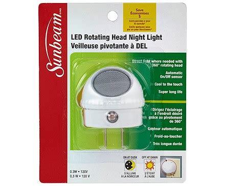 sunbeam led desk l sunbeam led rotating head night light with sensor