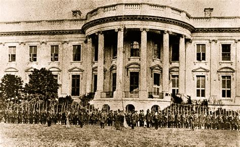 White House Biography Abraham Lincoln | white house as it looked during abraham lincoln s time