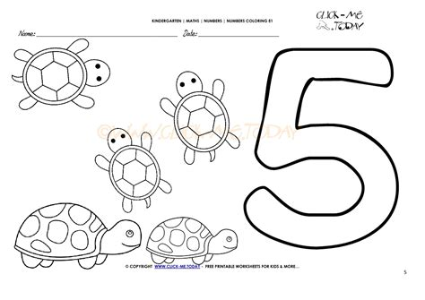 Number 5 Coloring Page Coloring Number 5 Coloring Pages by Number 5 Coloring Page