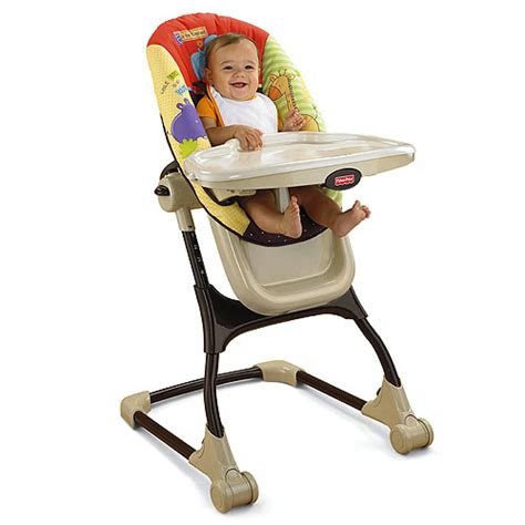 fisher price swing and highchair luv u zoo ez clean high chair