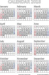 Qatar Kalendar 2018 Us 2018 Calendar Pdf Free Printable Pdf
