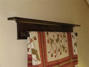 wall hanging quilt rack and shelf by doug wilson