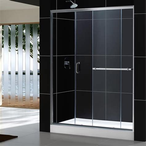 Glass Shower Door Sizes Dreamline Infinity Plus Sliding Glass Shower Door And Tray Combo Various Sizes Dl 609