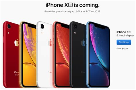 iphone xr pre orders in canada start friday oct 19 at 12 01am pdt you buying iphone in