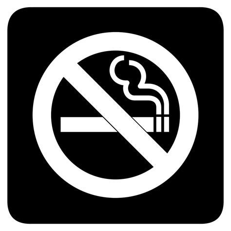 no smoking sign black no smoking black and white clipart clipart suggest