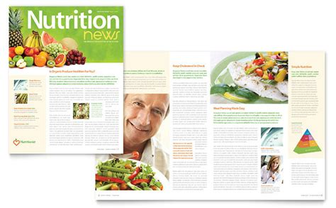 Nutritionist Dietitian Newsletter Template Design Free Fitness Newsletter Templates
