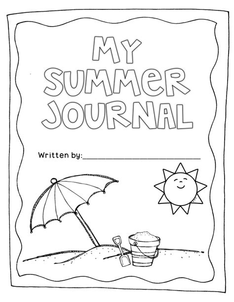 printable reading journal cover summer journal to keep your kiddos writing over the summer