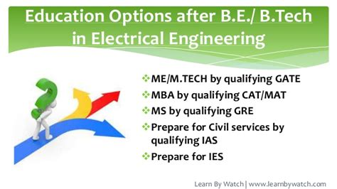 Ms Or Mba After Btech by Introduction To Electrical Engineering Branch Of Engineering