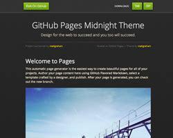 jekyll themes for github pages midnight