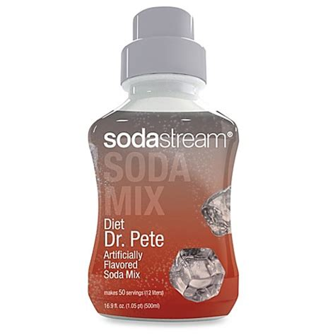 sodastream bed bath and beyond sodastream diet dr pete sparkling drink mix bed bath