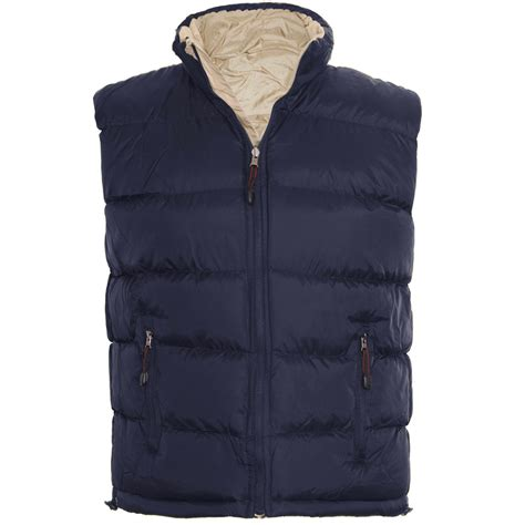 Mens Quilted Gilet by Mens Padded Quilted Gilet Warmer Reversible Winter
