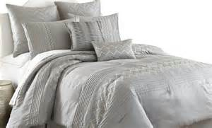 8 embroidered comforter set king grey