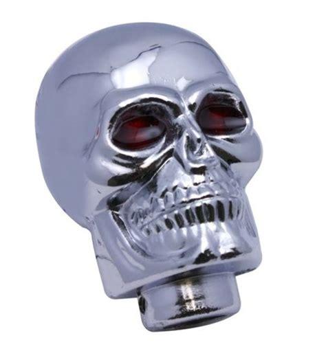 Chrome Skull Shift Knob by Chrome Skull Shift Knob With Rat Rod Pirate Mfg