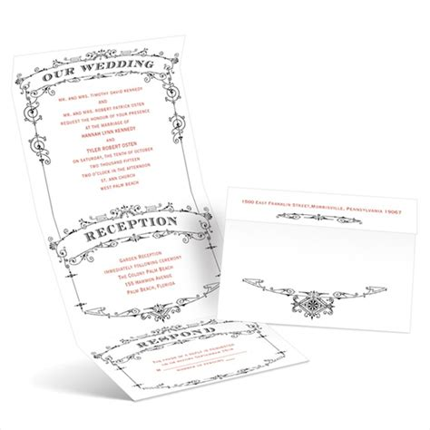 send and seal wedding invitations templates save time and money with these unique seal and send