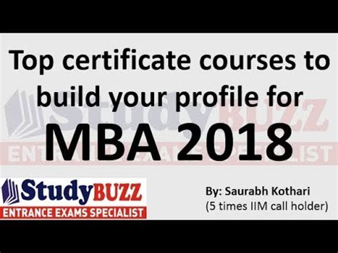 How To Build A Profile For Mba At 23 top term certificate courses to build your profile