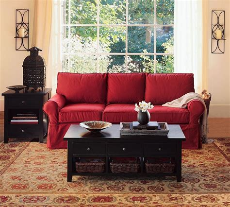 decorating with red couch living room decorating ideas features ergonomic seats