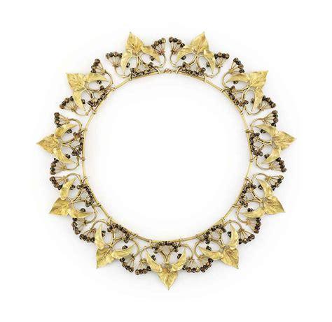 Dasi Satin 7cm Gold an nouveau gold and enamel necklace by lucien gaillard christie s