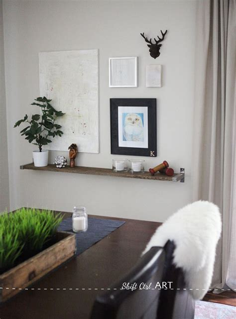 diy barnwood  ikea bracket shelf