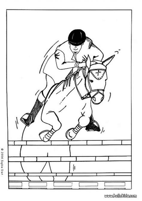 horse jockey coloring page jockey coloring pages hellokids com