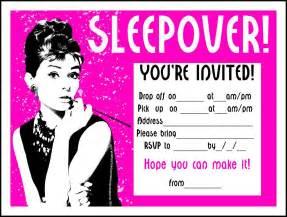 sleepover invitation wording invitation templates