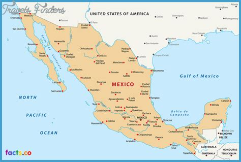 map of mexico and cities mexico city map travelsfinders
