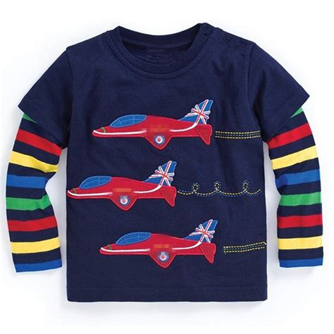 2733 Boys Tshirt boys sleeve tops 2017 brand autumn clothing baby boy sweatshirts animal pattern children t
