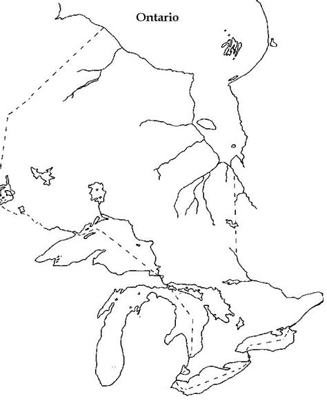 blank map of canada for ontario blank map