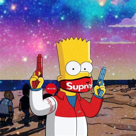 Bart Simpsons X Supreme bart supreme maskon image by young wraith