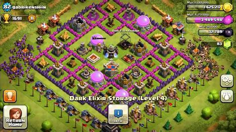 coc defense layout th8 coc 89th th8 defense 2in1 def with new hybrid base design