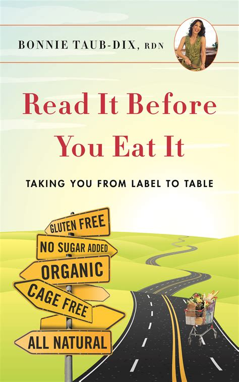 read it before you eat it taking you from label to table books read it before you eat it book page bonnie taub dix