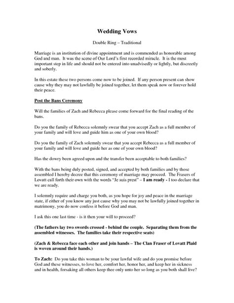 20 traditional wedding vows exle ideas you ll love