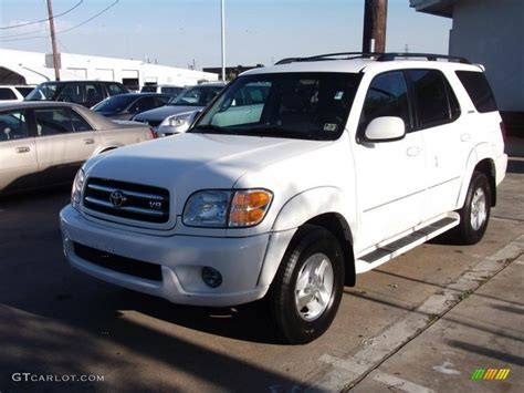 Toyota Paint Warranty Information 2002 White Toyota Sequoia Limited 47539641