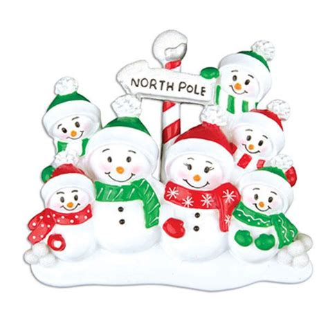 or967 7 north pole family of 7 personalized christmas
