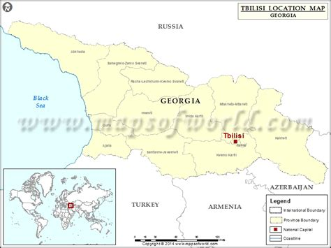 tbilisi map where is tbilisi location of tbilisi in map